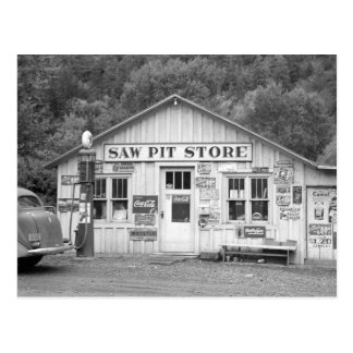 Vio la tienda del hoyo, 1940 postal