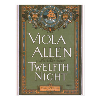 Viola Allen, 'Twelfth Night' Vintage Theater Postcard