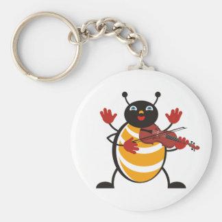 Viola Bug Basic Round Button Keychain