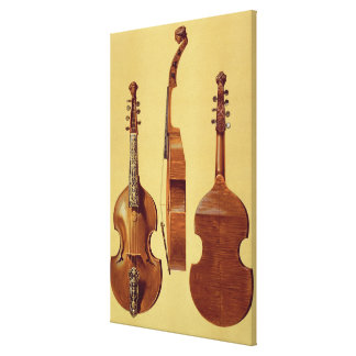 Viola d'Amore, 18th century, from 'Musical Instrum Canvas Print