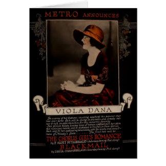 Viola Dana 1920 silent movie exhibitor ad Card