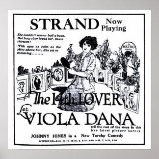 Viola Dana 1922 vintage movie ad poster