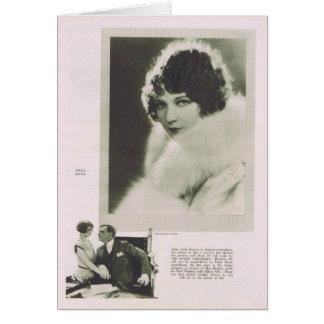Viola Dana 1925 portrait Greeting Card