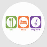 Viola de Eat Sleep Play Pegatinas Redondas