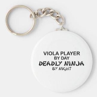 Viola Deadly Ninja by Night Basic Round Button Keychain