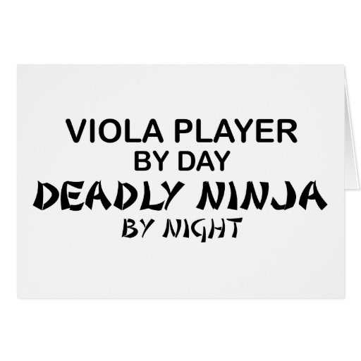 Viola Deadly Ninja by Night Greeting Card