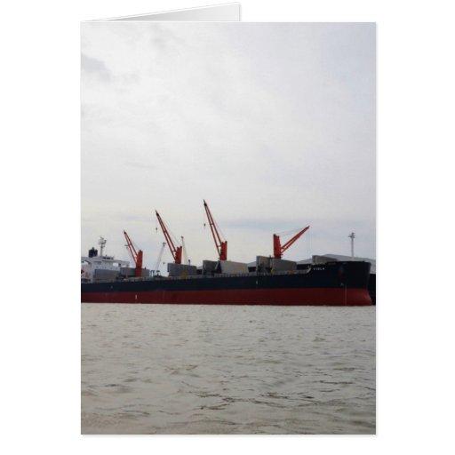 Viola del carguero de graneles felicitacion