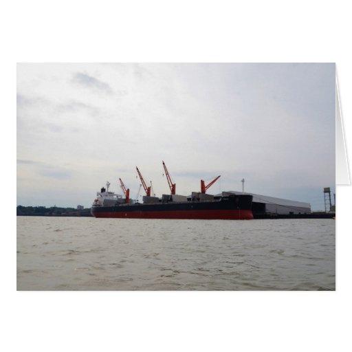 Viola del carguero de graneles tarjeton