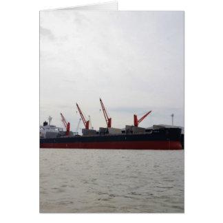 Viola del carguero de graneles tarjeta de felicitación
