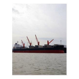 Viola del carguero de graneles tarjeta postal