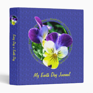 Viola Earth Day Journal Album 1 inch Binder