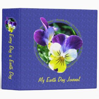Viola Earth Day Journal Album 2 inch Binder