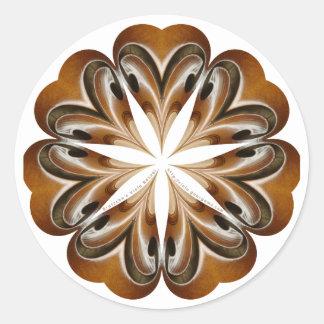 Viola F-hole Mandala Classic Round Sticker