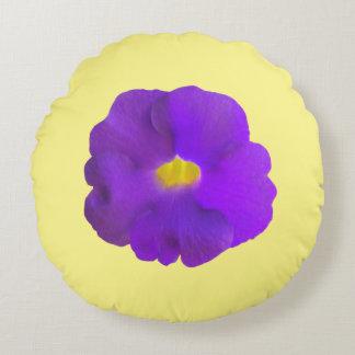 Viola Flower Round Pillow