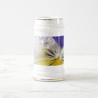 Viola Flowers Beer Stein Mug