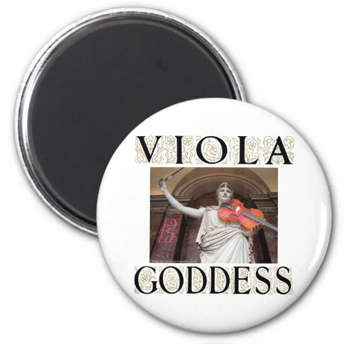 Viola Goddess Round Magnet
