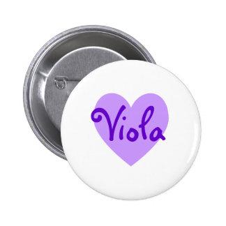 Viola in Purple 2 Inch Round Button