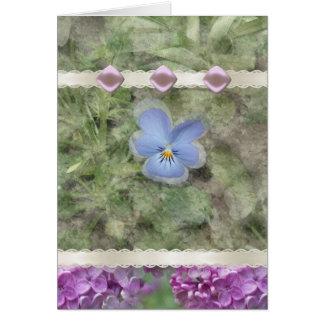 Viola Lilac Flowers Card
