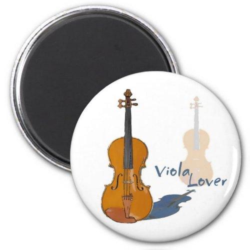 Viola Lover Round Magnet
