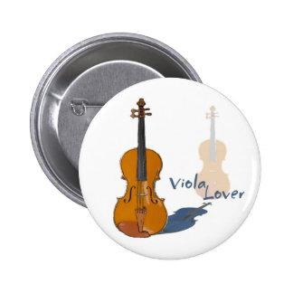 Viola Lover Pinback Button