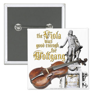Viola & Mozart Button