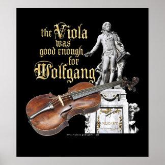 Viola & Mozart Poster