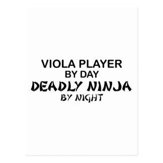 Viola Ninja mortal por noche Tarjetas Postales