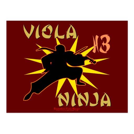 Viola Ninja Postcard