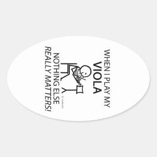 Viola Nothing Else Matters Oval Sticker