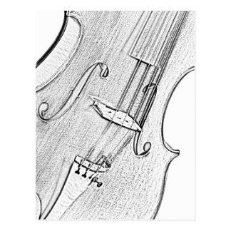 Viola or violin Postcard