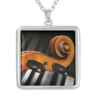 Viola or Violin Scroll and Keyboard Necklace