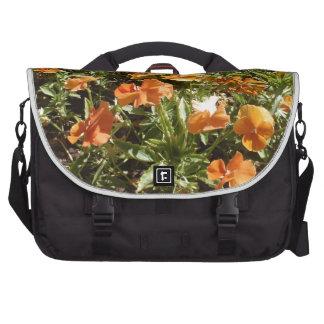 Viola Panola Deep Orange Laptop Commuter Bag