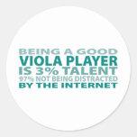 Viola Player 3% Talent Round Sticker