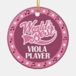 Viola Player Gift For Her Christmas Ornament