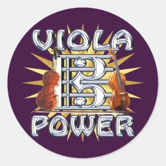 Viola Power Classic Round Sticker