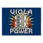Viola Power Greeting Card