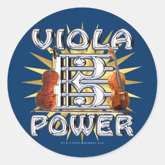 Viola Power Round Stickers