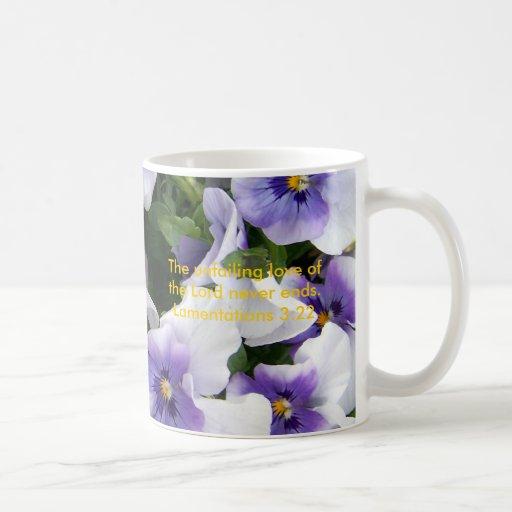 viola púrpura, la taza unfailing del amor