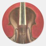 Viola Round Sticker