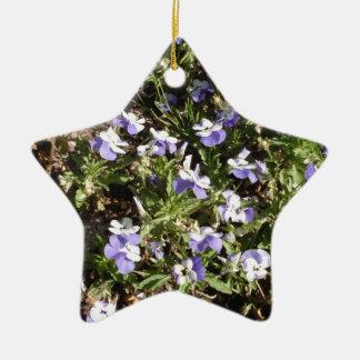Viola 'Sorbet Delft Blue' Ceramic Ornament