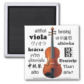 Viola Translations 2 Inch Square Magnet