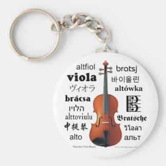 Viola Translations Basic Round Button Keychain