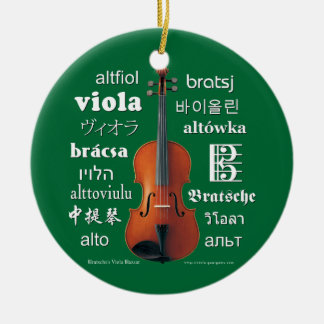 Viola Translations Ceramic Ornament