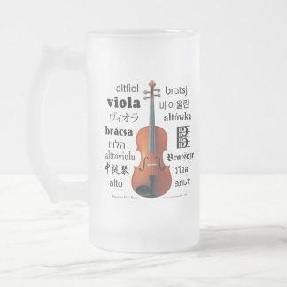 Viola Translations Frosted Glass Beer Mug