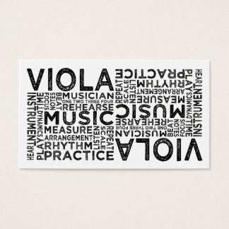 Viola Typography Business Card