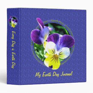 Viola Wildflower Earth Day Journal Album 1.5 inch Binder