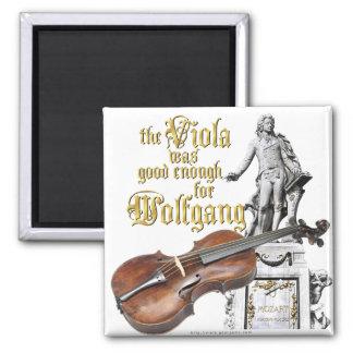 Viola y Mozart Imán Cuadrado