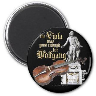 Viola y Mozart Imán Redondo 5 Cm