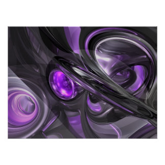 Violaceous Abstract Poster