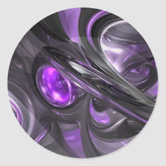 Violaceous Abstract Sticker